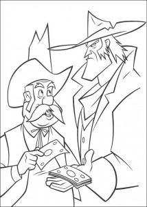 coloring page Sherrif and Rico