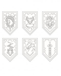 coloring page shields