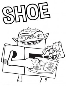 kleurplaat shoe