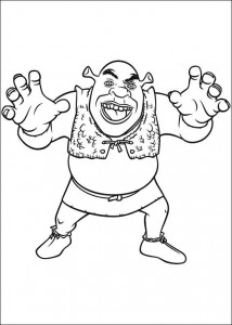 kleurplaat Shrek 4 (12)