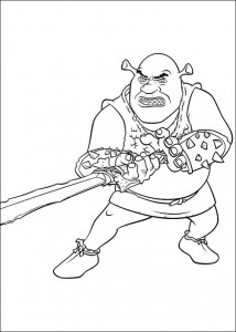 kleurplaat Shrek 4 (17)