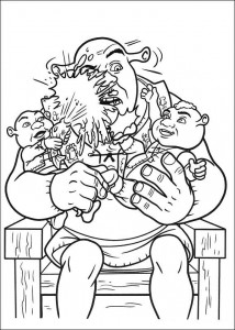 Dibujo para colorear Shrek 4 (22)