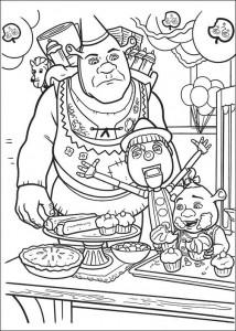 Dibujo para colorear Shrek 4 (23)