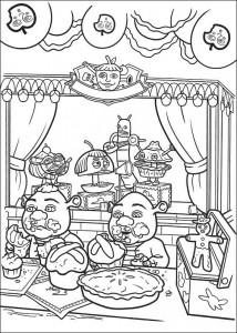 Dibujo para colorear Shrek 4 (24)