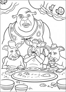 kleurplaat Shrek 4 (26)
