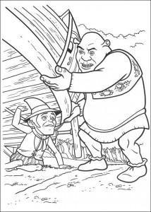 kleurplaat Shrek 4 (29)