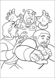kleurplaat Shrek 4 (30)