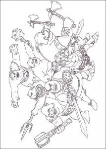 Dibujo para colorear Shrek 4 (9)