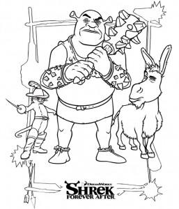 målarbok Shrek 4 Forever After (3)