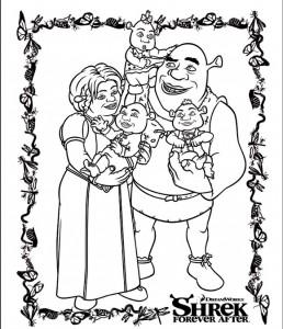 målarbok Shrek 4 Forever After (7)