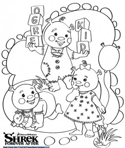 coloring page Shrek 4 Forever After