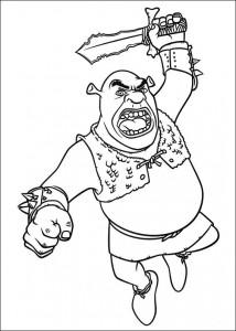 Malvorlage Shrek (5)