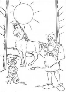 coloring page Shrek as a human (1)