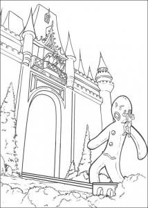 coloring page Shrek as a human