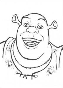 kleurplaat Shrek, de Ogre