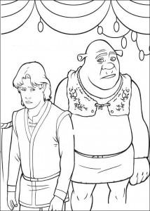 kleurplaat Shrek en Arthur