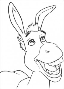 coloring page Shrek and the donkey (2)