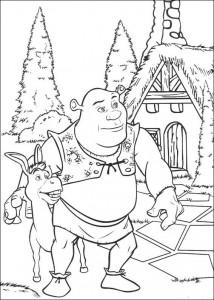 σελίδα ζωγραφικής Shrek και ο γάιδαρος (4)
