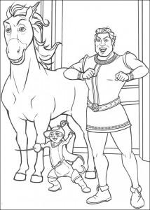 kleurplaat Shrek en de goede fee (1)