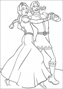 coloring page Shrek and the stallion (1)