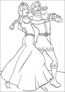 målarbok Shrek och hingsten (1)