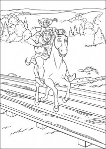 coloring page Shrek and the stallion