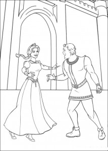 coloring page Shrek and Fiona (1)