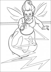 coloring page Shrek and Fiona
