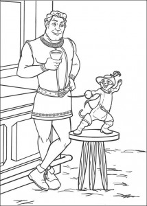 Coloring page Shrek caught