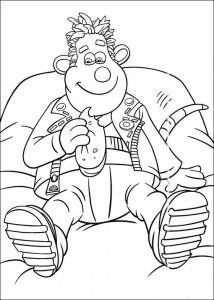 coloring page Sid eats sandwich