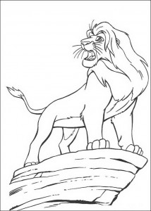 coloring page Simba the Lion King