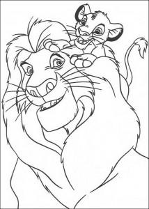 coloring page Simba and Mufasa