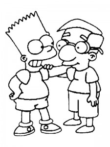 coloring page Simpsons (1)