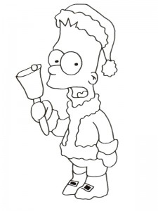 coloring page Simpsons (10)