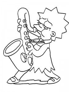 coloring page Simpsons (13)