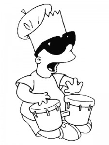 coloring page Simpsons (17)