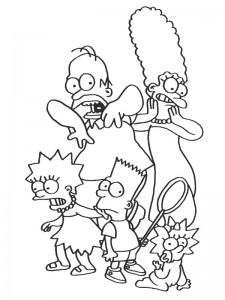 coloring page Simpsons (2)