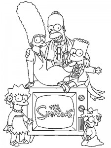 coloring page Simpsons (21)