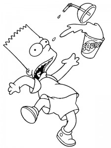 coloring page Simpsons (25)