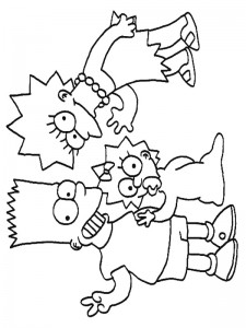 coloring page Simpsons (26)