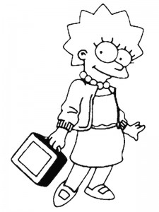 coloring page Simpsons (3)