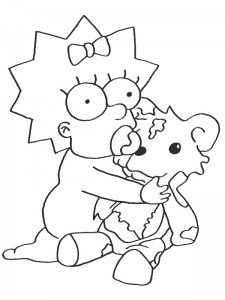 coloring page Simpsons (4)