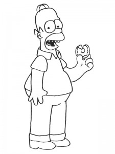 coloring page Simpsons (7)