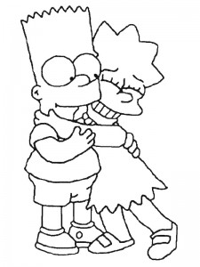 coloring page Simpsons