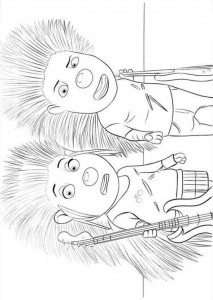 coloring page Sing (5)