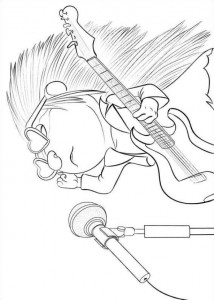 coloring page Sing (8)