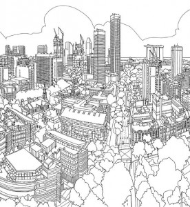 coloring page singapore