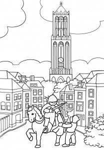 coloring page saint march