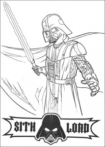målarbok Sith Lord