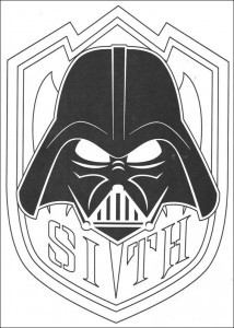 coloring page Sith